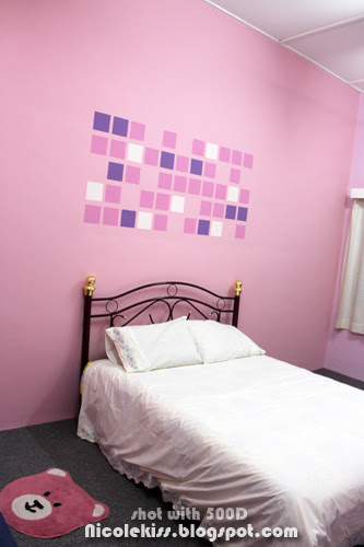 pink guest room complete