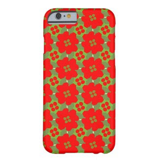 Red Flower Design on iPhone 6 Case