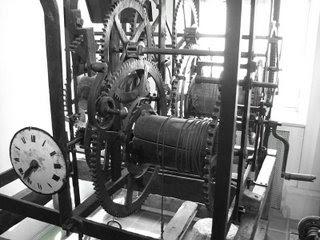Clock machine in Museum of life in Burgundy, Dijon, France