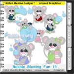 Bubble Blowing Fun Layered Templates - CU