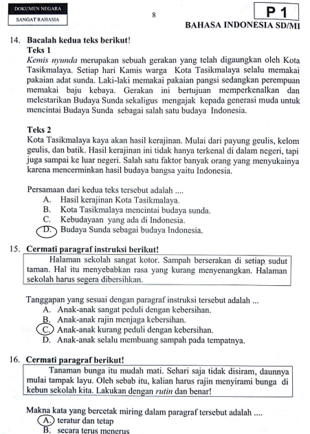 32 Jawaban Bahasa Jawa Kelas 6 Png