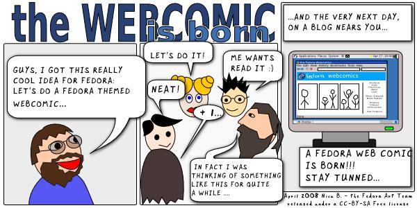 [the fedora webcomic is born]