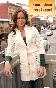 Emily Blunt Long Belted Cardigan