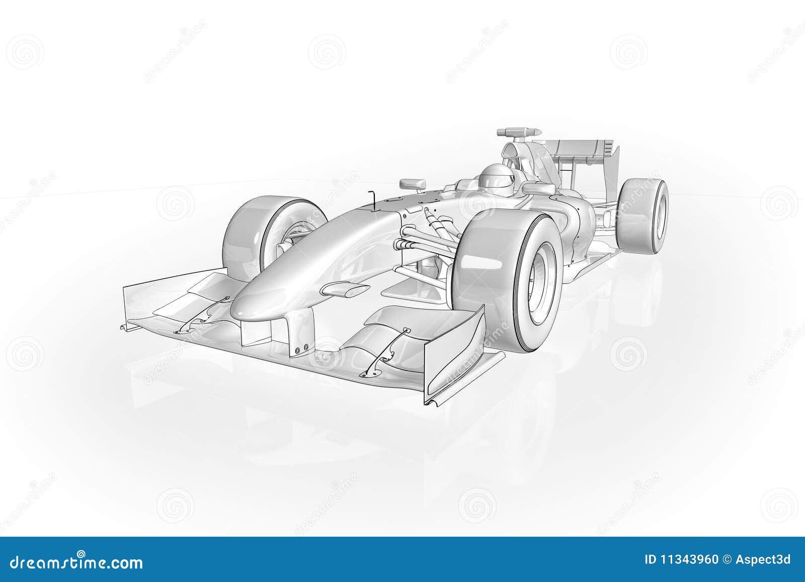 F1 Car Stock Photo Image 11343960