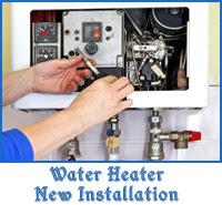 water heater new installation