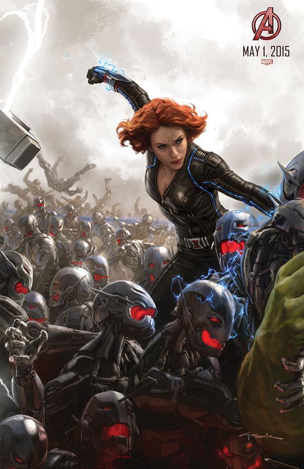 "Viuda Negra en el Poster de ""Los Vengadores : La Era de Ultron"""