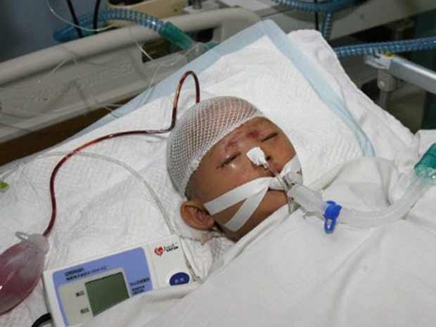 Wang Yue no hospital em 16 de outubro (Foto: AFP)