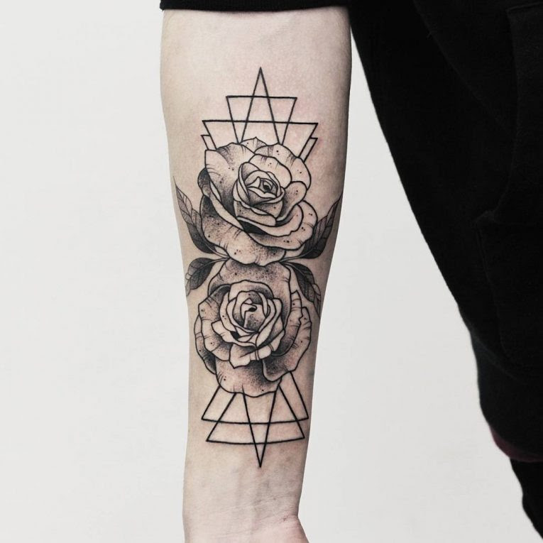 Roses Black And White Tattoo