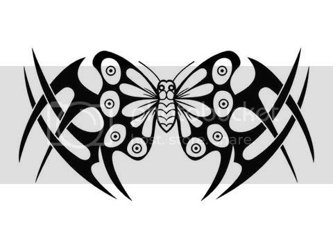 butterfly tribal tattoo. tribal band tattoo tribal tattoo on forearm