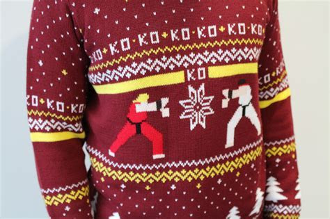 Hadouken!: Street Fighter Ugly Christmas Sweater   Geekologie