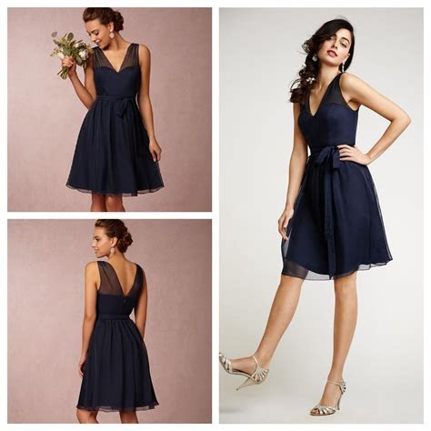 Short Bridesmaid Dresses Navy Blue Plus Size Bridesmaids