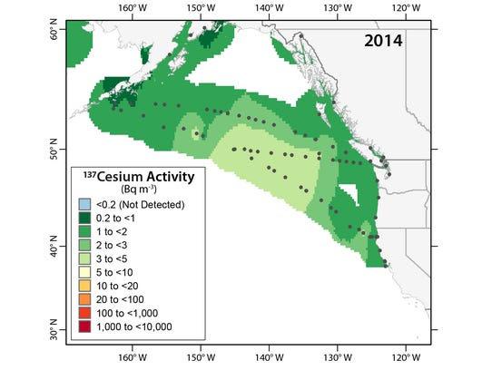 137 Cesium Activity in 2014.