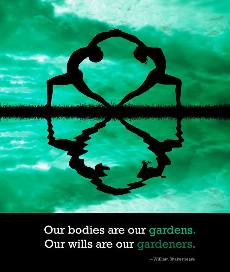 Our bodies are our gardens – Our wills are our gardeners.