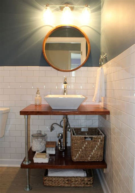 diy bathroom vanity ideas perfect  repurposers
