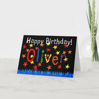 'Oliver' Birthday Card card