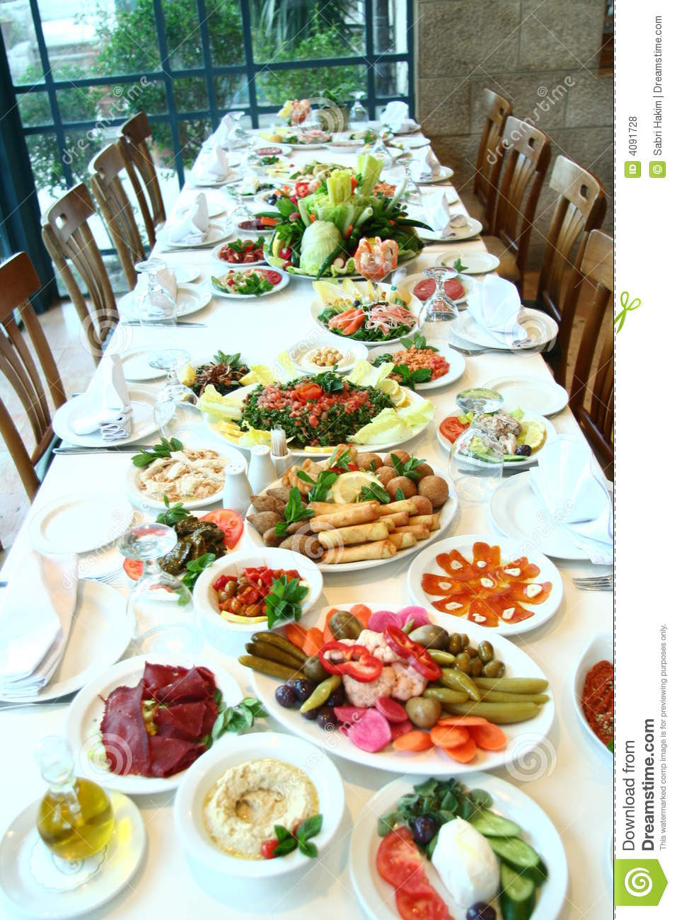 Table Full Of Food Royalty Free Stock Photos - Image: 4091728