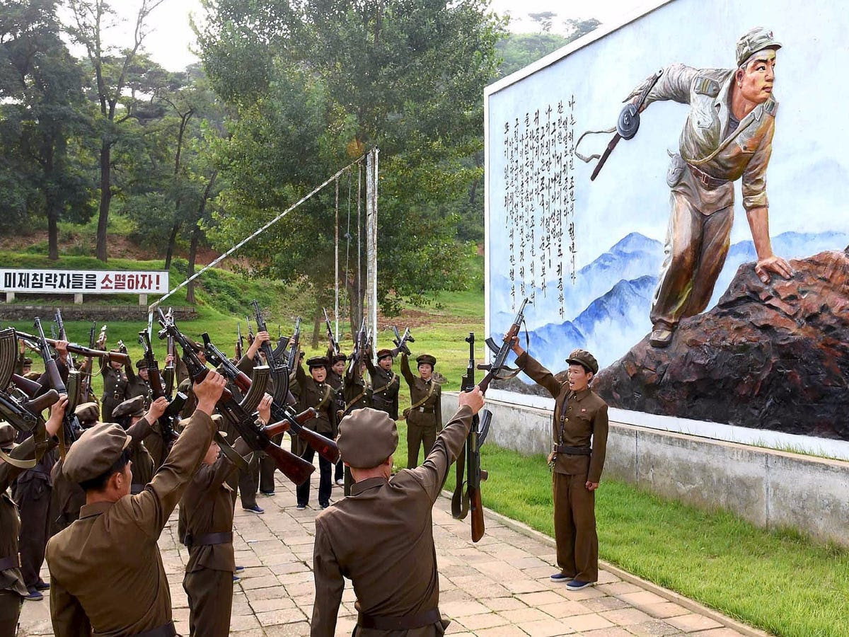 The number of people available for military service in North Korea is 2.5 times the population of Norway.