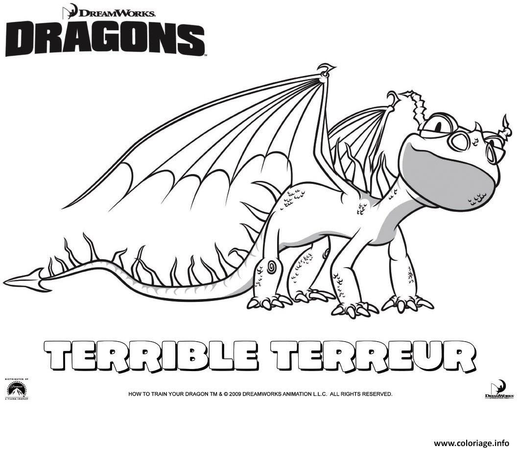Coloriage Dragons Le Terrible Terror Dessin  Imprimer