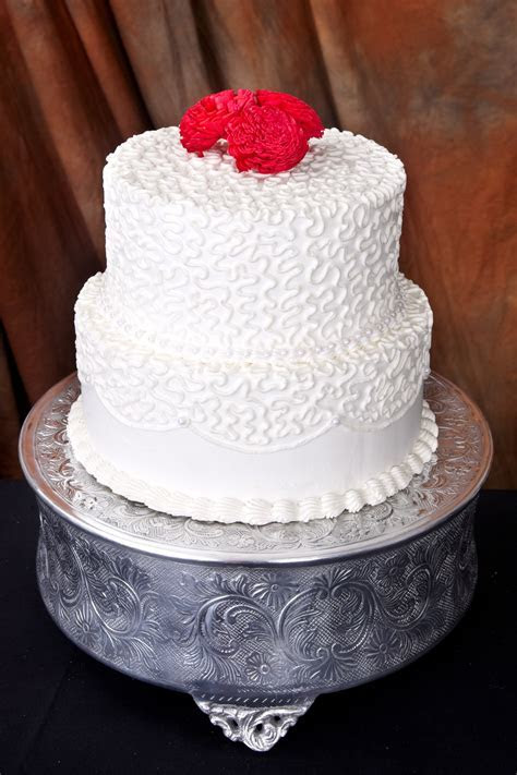 Round Embossed 14 inch Cake Stand   Helen G Events
