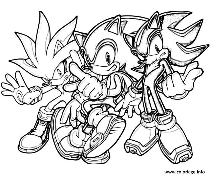 Coloriage Sonic 182 Jecoloriecom