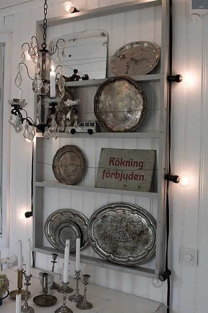 ♅ Dove Gray Home Decor ♅   silver plate rack