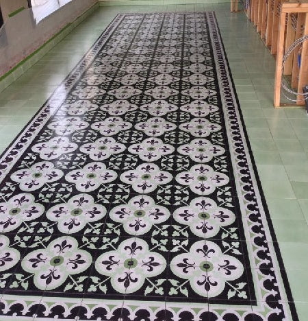 The Cement Tile Carpet Install is Complete!