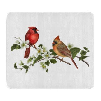 Cardinals and Dogwoods Cutting Board