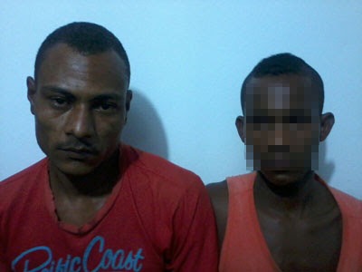 Um homem e dois menores foram presos (Foto: Ubatã Notícias)