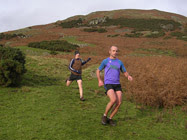 Sean McFarlane chased by Tom Barr