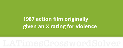1987 Action Film Originally Given An X Rating For Violence