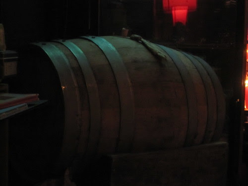 Spiled, the cask waits