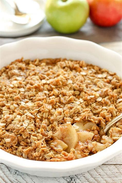 cinnamon apple crisp   bake