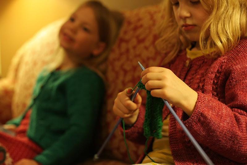 evening knitting