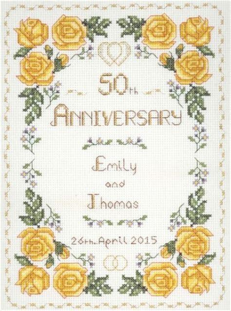 Rose 50th Anniversary Sampler cross stitch kit