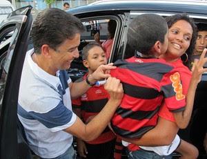 Bebeto Flamengo Engenhão (Foto: Richard Souza / Globoesporte.com)