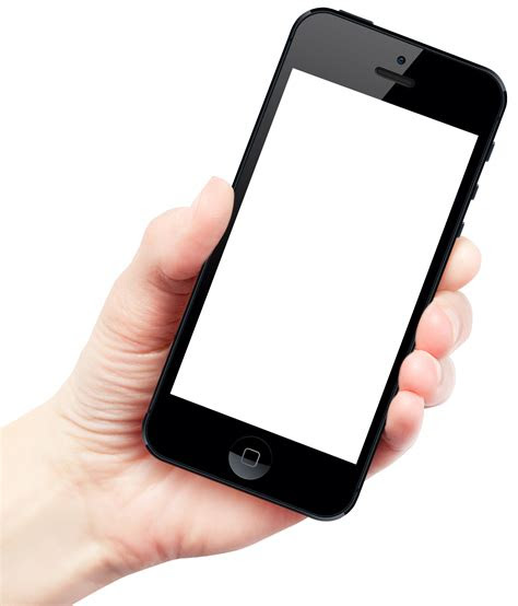 hand holding smartphone apple iphone png image purepng