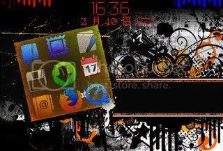 distortion Theme đẹp dành cho BlackBerry 83xx và 87xx