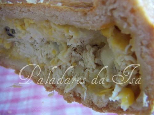Torta / Empada de frango com creme de milho