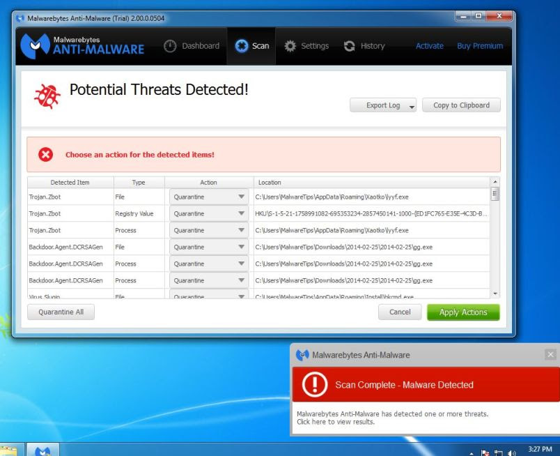 [Image: Remove Unable to connect to the proxy server with Malwarebytes Anti-Malware]