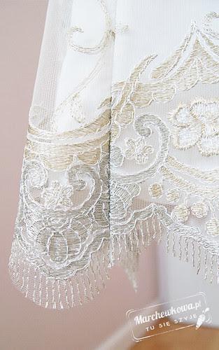 marchewkowa, blog, szycie, krawiectwo, suknia ślubna, sukienka, koronka z dwoma ozdobnymi brzegami, jedwabna satyna, wykrój, model, Burda 8/2012, 2/2011, 101, 133