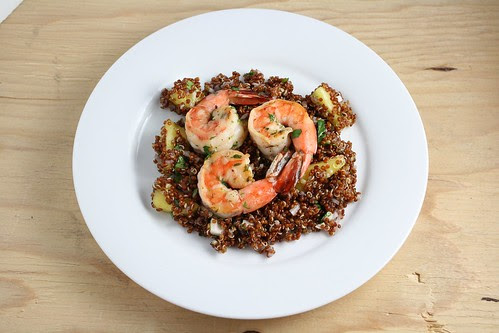 Quinoa with Shrimp and Pineapple