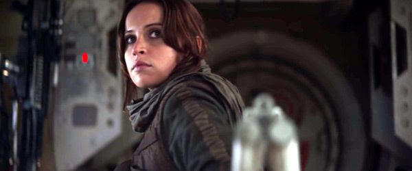 Now grown up, Jyn Erso (Felicity Jones) is ready to steal the Death Star plans in ROGUE ONE: A STAR WARS STORY.