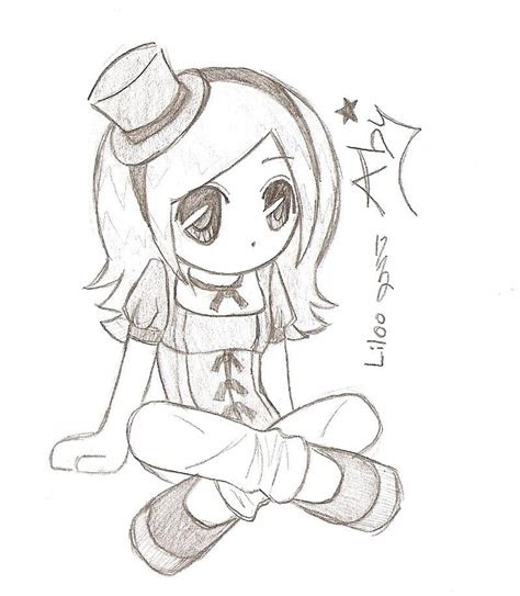 cute chibi drawings girl chibi cute