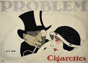 Hans Rudi Erdt: Problem Cigarettes, 1912 . Adv...