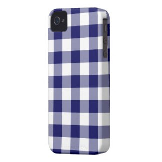 Navy and White Gingham Pattern casematecase