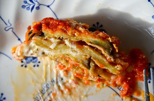 Eggplant Parmesan - Layers!