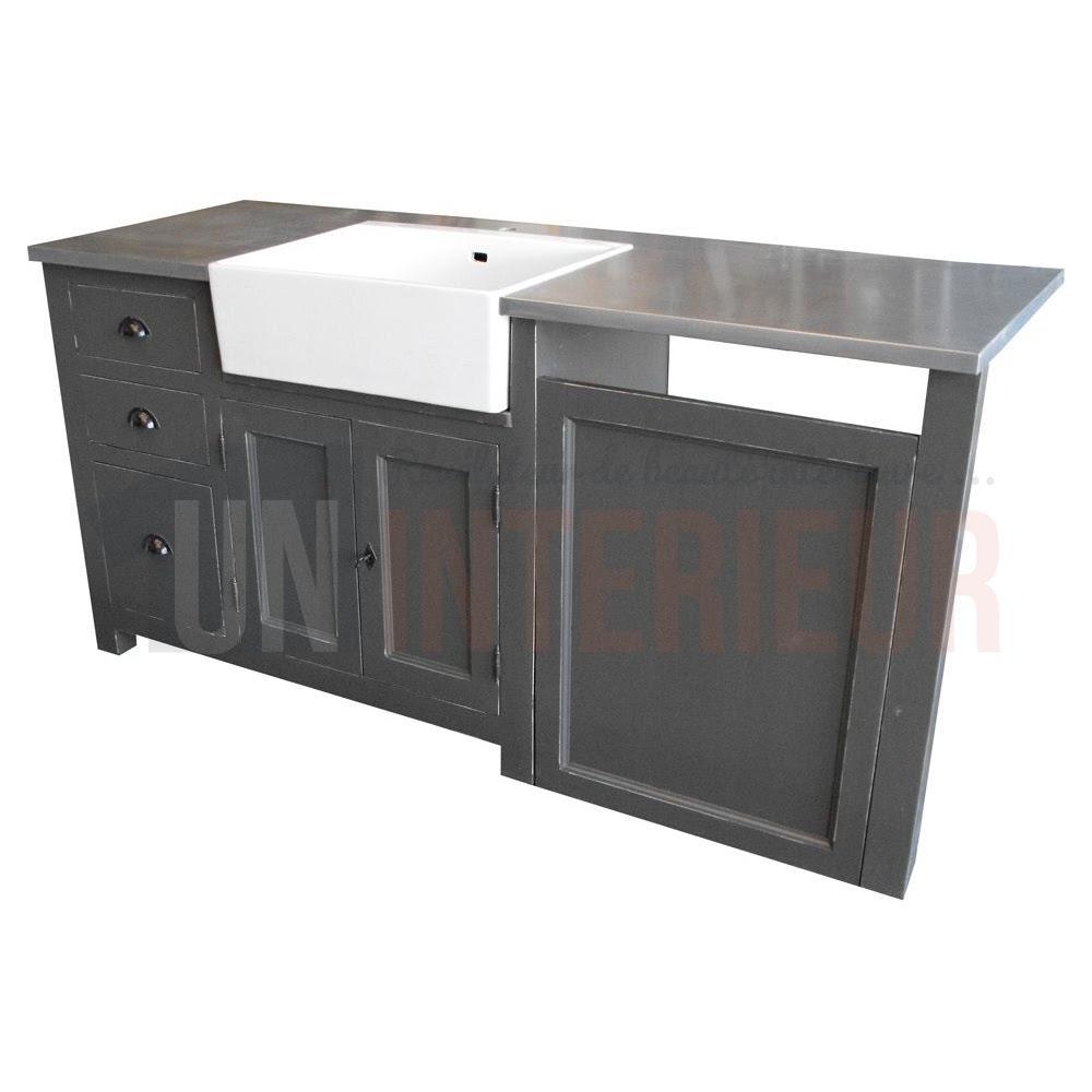 Meuble évier Avec Timbre Doffice Et Emplacement Lave Vaisselle Pin