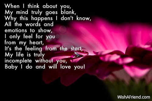 When I Think About You Poem For Boyfriend