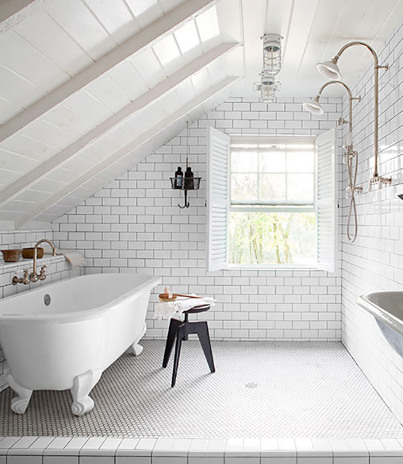 White Attic Bathroom