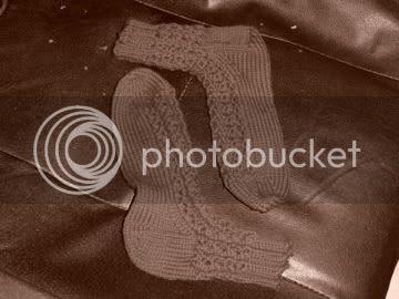 lace rib socks